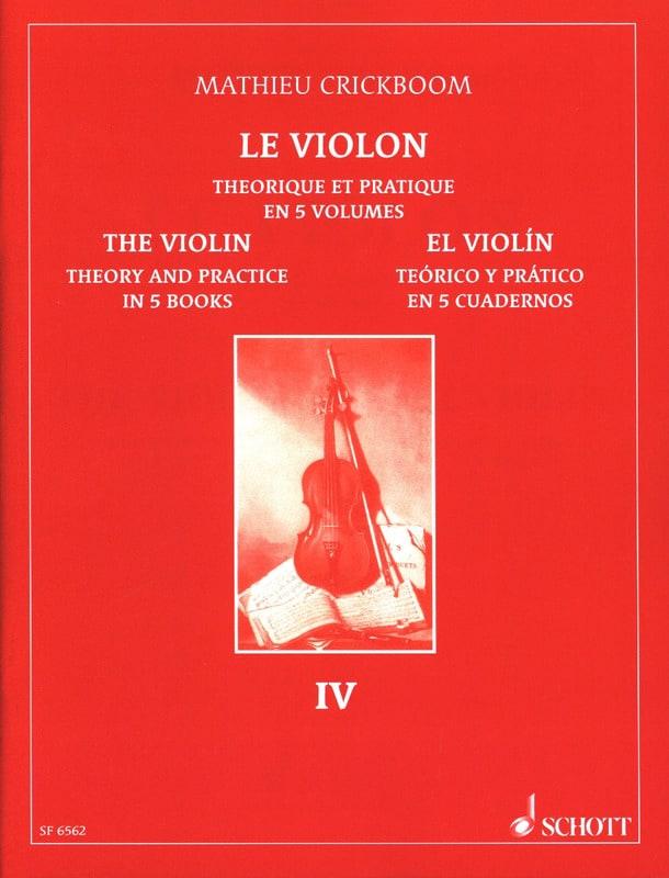 Mathieu Crickboom - The violin, Volume 4 - Partition - di-arezzo.co.uk