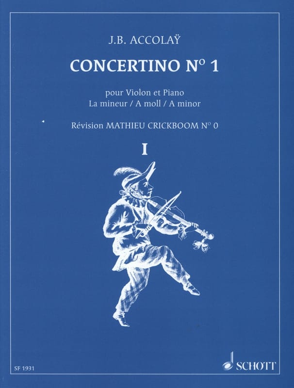 Jean-Baptiste ACCOLAY - Concertino No. 1 in A minor - Partition - di-arezzo.co.uk