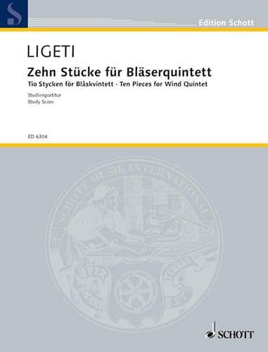 György Ligeti - 10 Pièces pour Quintette à Vent - Conducteur - Partition - di-arezzo.fr