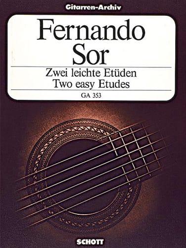 Zwei leichte Etüden - SOR - Partition - Guitare - laflutedepan.com