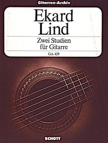 Zwei Studien für Gitarre - Ekard Lind - Partition - laflutedepan.com