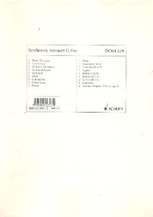 Menuett G-Dur - String - BEETHOVEN - Partition - laflutedepan.com