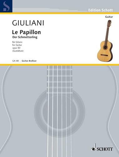 Mauro Giuliani - Der Schmetterling - Guitar - Partition - di-arezzo.com