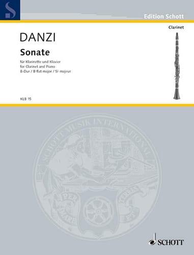 Sonate B-Dur - Klarinette Klavier - Franz Danzi - laflutedepan.com