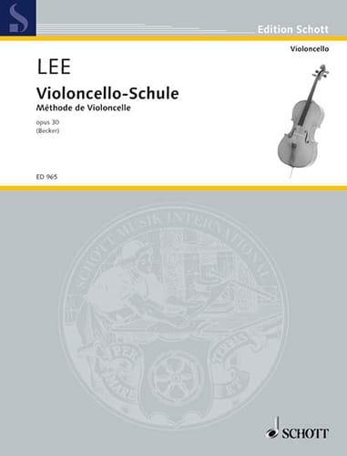 Sebastian Lee - Violoncello-Schule op. 30 - Partition - di-arezzo.co.uk
