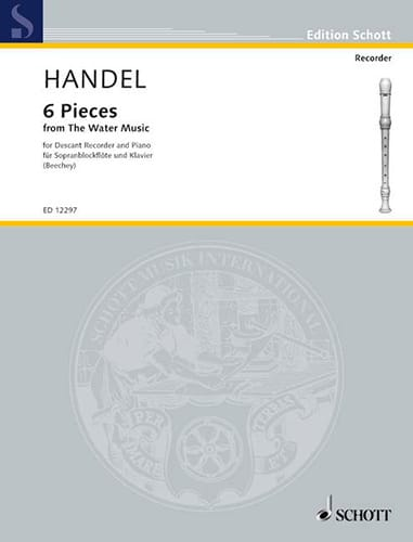 HAENDEL - 6 Pieces from Water Music - Descending Recorder - Partition - di-arezzo.co.uk