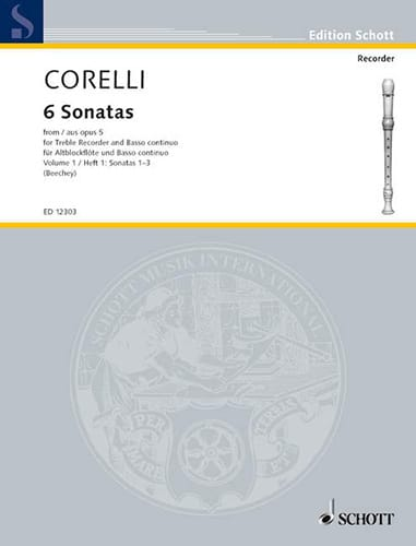 CORELLI - 6 Sonatas Aus Opus 5 - Bd. 1 - Partition - di-arezzo.co.uk