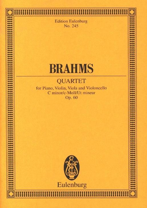 Klavier-Quartett c-moll Op.60 - BRAHMS - Partition - laflutedepan.com