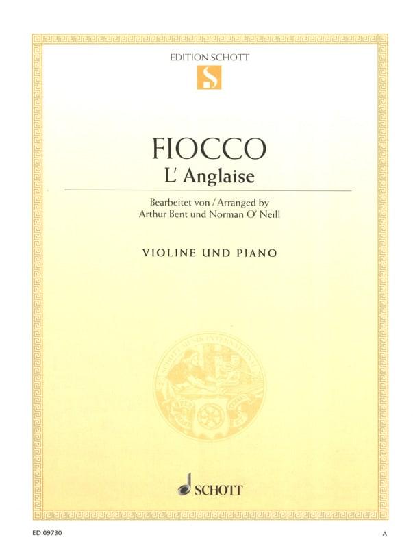 Joseph Hector Fiocco - The English - Partition - di-arezzo.co.uk