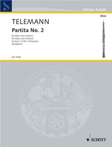 TELEMANN - Partita Nr. 2 G-Dur - Partition - di-arezzo.com