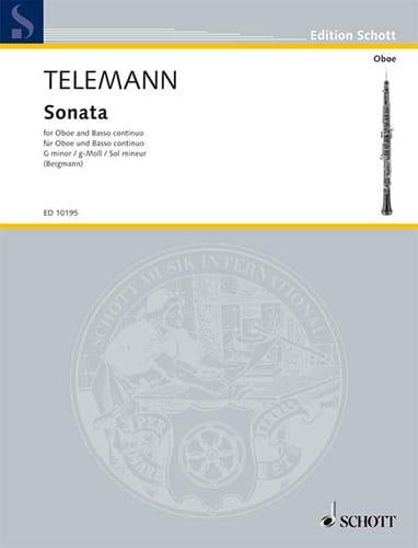 TELEMANN - Sonata in G minor - Partition - di-arezzo.com