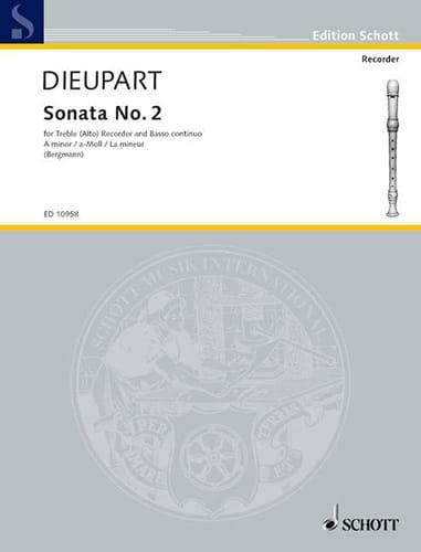 Charles François Dieupart - Sonata Nr. 2 a-Moll - Altblockflöte u. Bc - Partition - di-arezzo.fr