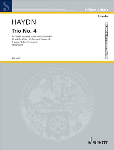 HAYDN - Threesome Nr. 4 F-Dur - Altblockflöte Violine Cello - Partition - di-arezzo.com