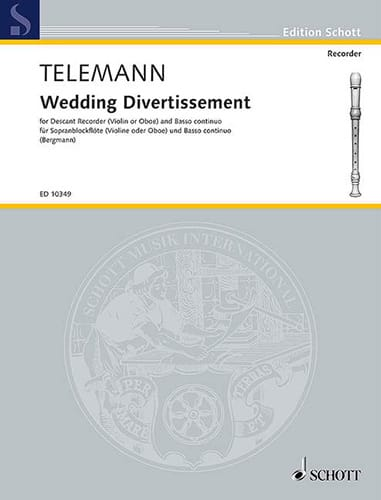 Wedding Divertissement - TELEMANN - Partition - laflutedepan.com