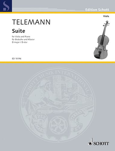 TELEMANN - D-Dur Suite - Viola - Partition - di-arezzo.co.uk
