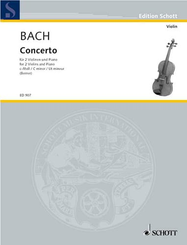 BACH - Concerto c-moll - 2 Violinen Klavier - Partition - di-arezzo.co.uk