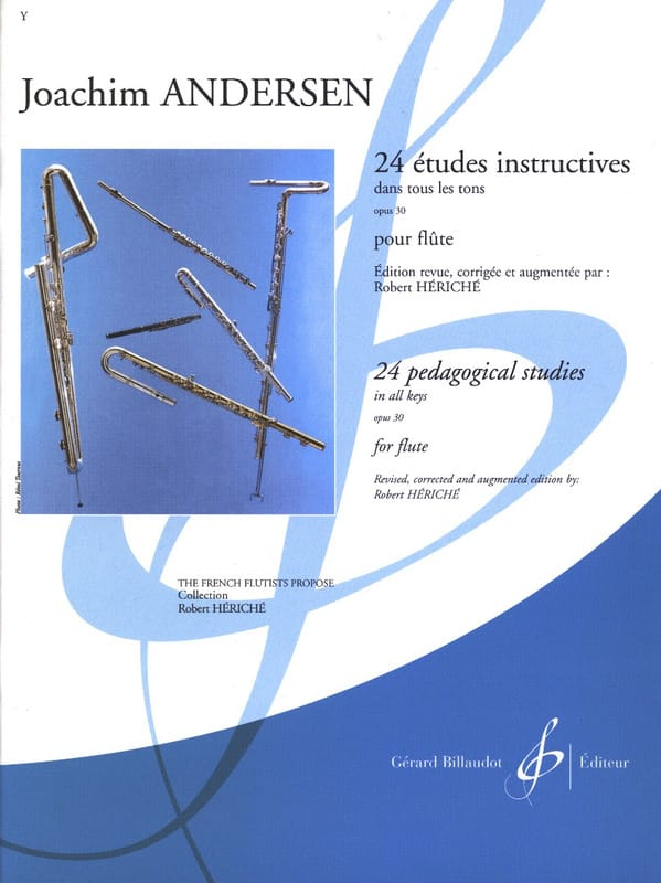 Joachim Andersen - 24 Instructional Studies op. 30 - Partition - di-arezzo.co.uk