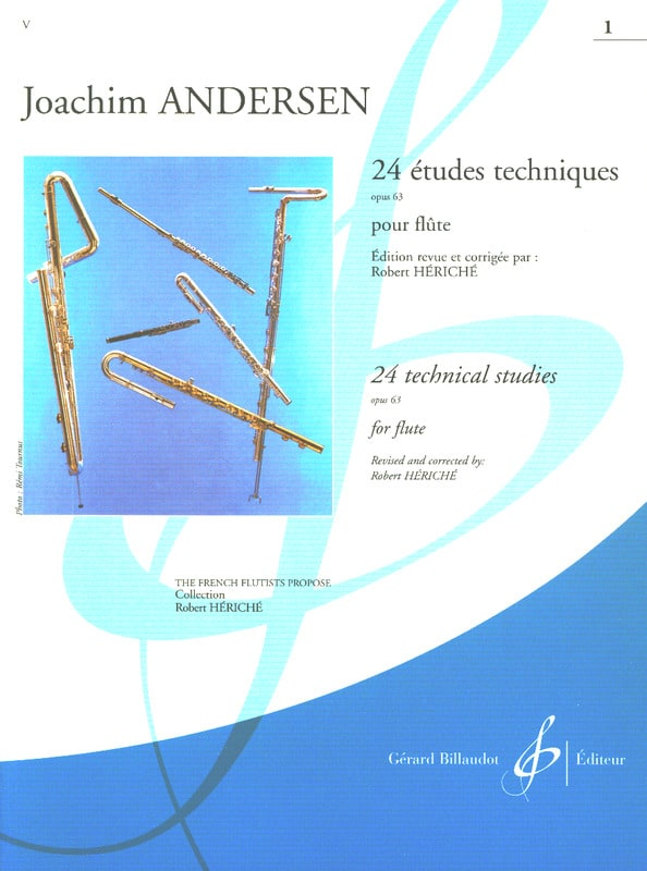 Joachim Andersen - 24 Technical Studies op. 63 - Volume 1 - Partition - di-arezzo.co.uk