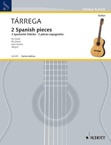 Francisco Tárrega - 2 Spanische Stücke - Partition - di-arezzo.com