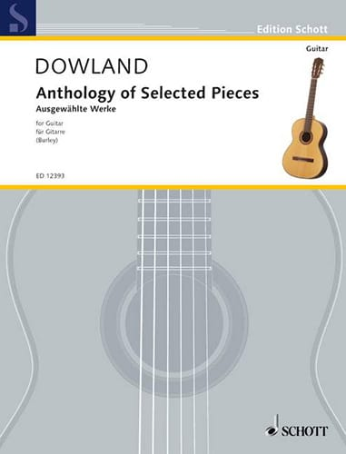 John Dowland - Anthology Of Selected Pieces - Partition - di-arezzo.com
