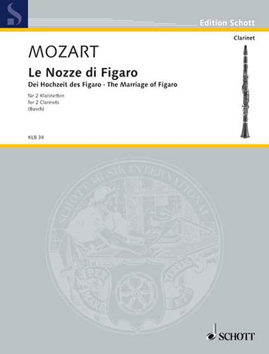 Le Nozze Di Figaro - 2 Clarinettes - MOZART - laflutedepan.com