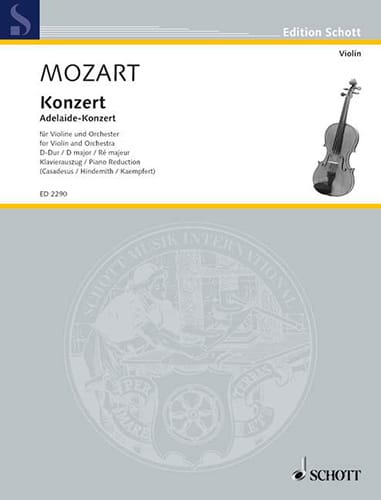 MOZART - Violin Concerto in D major - Partition - di-arezzo.com