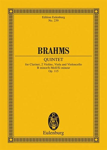 BRAHMS - Quintett h-moll op. 115 - Partitur - Partition - di-arezzo.co.uk