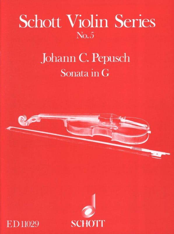 Sonata G-Dur - Johann Christoph Pepusch - Partition - laflutedepan.com