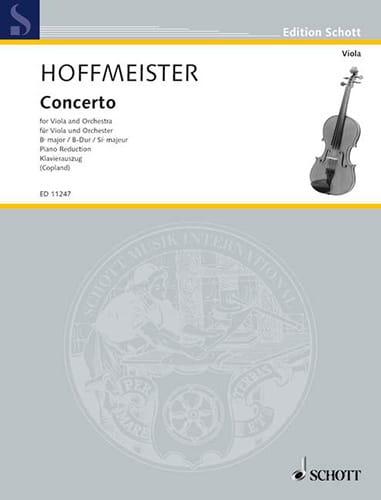 Franz Anton Hoffmeister - Konzert in B-Dur - Partition - di-arezzo.de