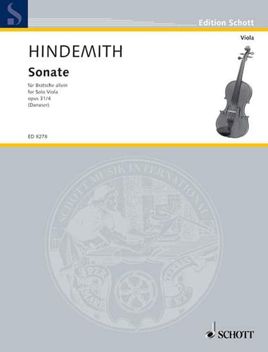 Sonate op. 31 n°4 - HINDEMITH - Partition - Alto - laflutedepan.com