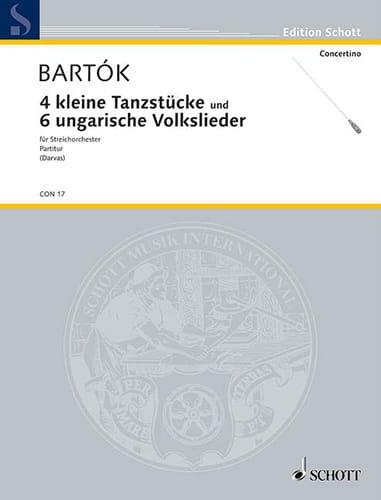 4 kleine Tanzstücke - 6 ungarische Volkslieder - Streichorchester - laflutedepan.com