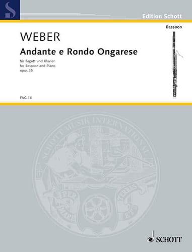 Carl Maria von Weber - Andante e Rondo ongarese op. 35 - Partition - di-arezzo.com