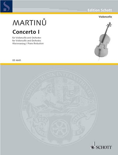 Bohuslav Martinu - Concerto No. 1 - Cello - Partition - di-arezzo.co.uk