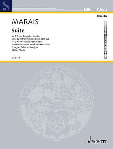 Suite C-Dur -2 Altblockflöten BC - Marin Marais - laflutedepan.com