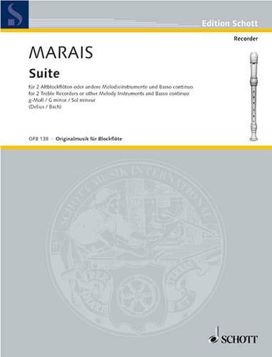 Suite g-moll -2 Altblockflöten Bc - Marin Marais - laflutedepan.com