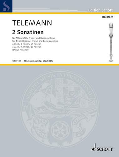 2 Sonatinen - Altblockflöte u. Bc - TELEMANN - laflutedepan.com
