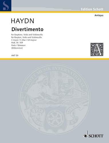 HAYDN - Divertimento Hob. 11: 109 C-Dur - Stimmen - Partition - di-arezzo.co.uk