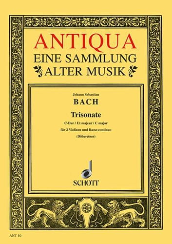BACH - Triosonate C-Dur - 2 Violinen u. Bc - Stimmen - Partition - di-arezzo.co.uk