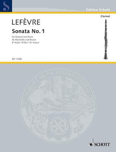 Sonate n° 1 pour clarinette - Xavier Lefèvre - laflutedepan.com