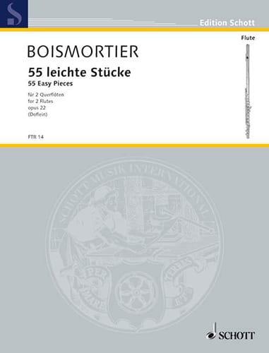 BOISMORTIER - 55 Leichte Stücke op. 22 - 2 Flöten - Partition - di-arezzo.com