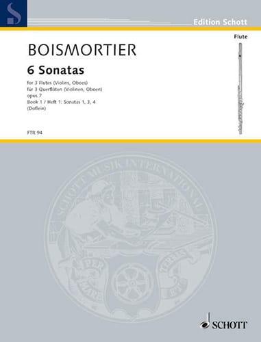 BOISMORTIER - 6 Sonaten op. 7 Bd. 1 - 3 Flöten - Partition - di-arezzo.com