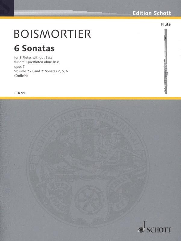 BOISMORTIER - 6 Sonaten op. 7 Bd. 2 - 3 Flöten - Partition - di-arezzo.com