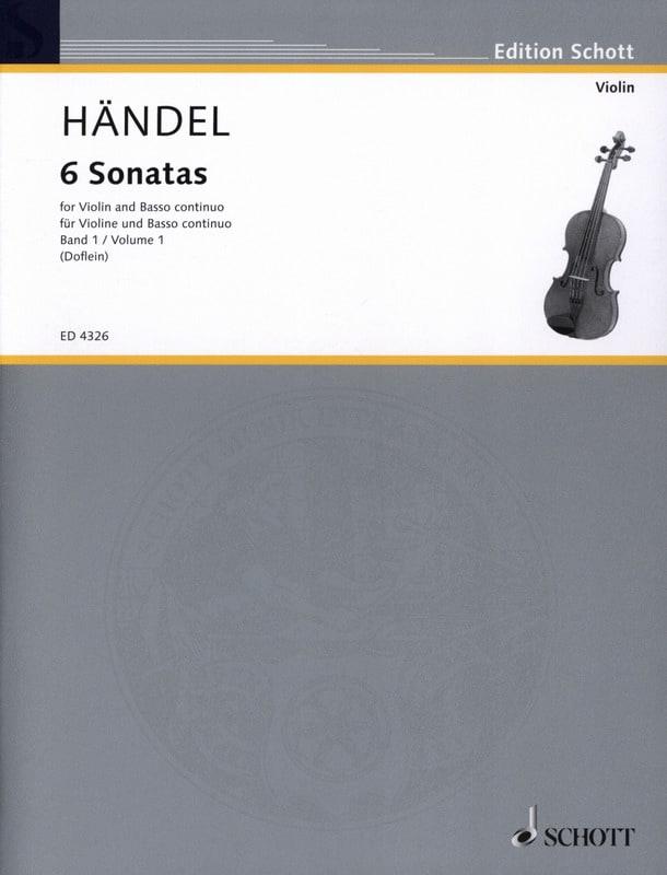 HAENDEL - 6 Sonaten Band 1 - Partition - di-arezzo.co.uk