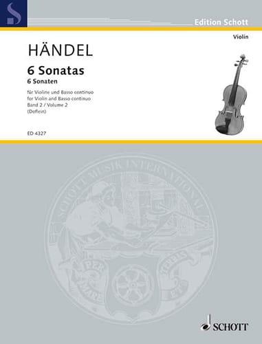6 Sonaten Band 2 - HAENDEL - Partition - Violon - laflutedepan.com