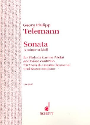 TELEMANN - Sonata A-moll - Viola - Partition - di-arezzo.co.uk
