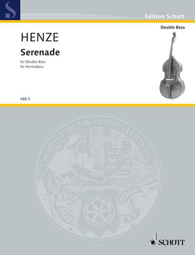 Serenade - Contrebasse - Hans Werner Henze - laflutedepan.com