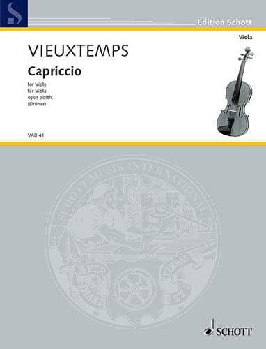 Capriccio op. posth - VIEUXTEMPS - Partition - laflutedepan.com