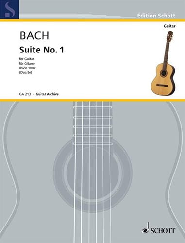 BACH - Suite n ° 1 BWV 1007 - Gitarre - Partition - di-arezzo.co.uk