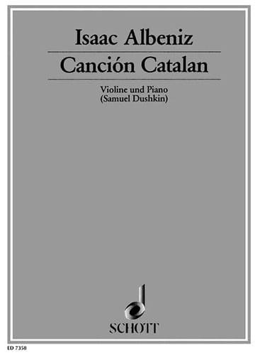 Canción Catalan - ALBENIZ - Partition - Violon - laflutedepan.com