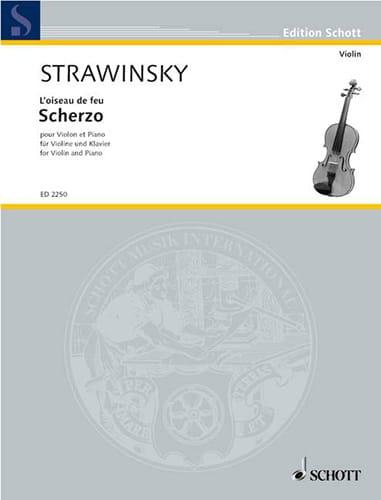 Igor Stravinsky - Scherzo - Partition - di-arezzo.com